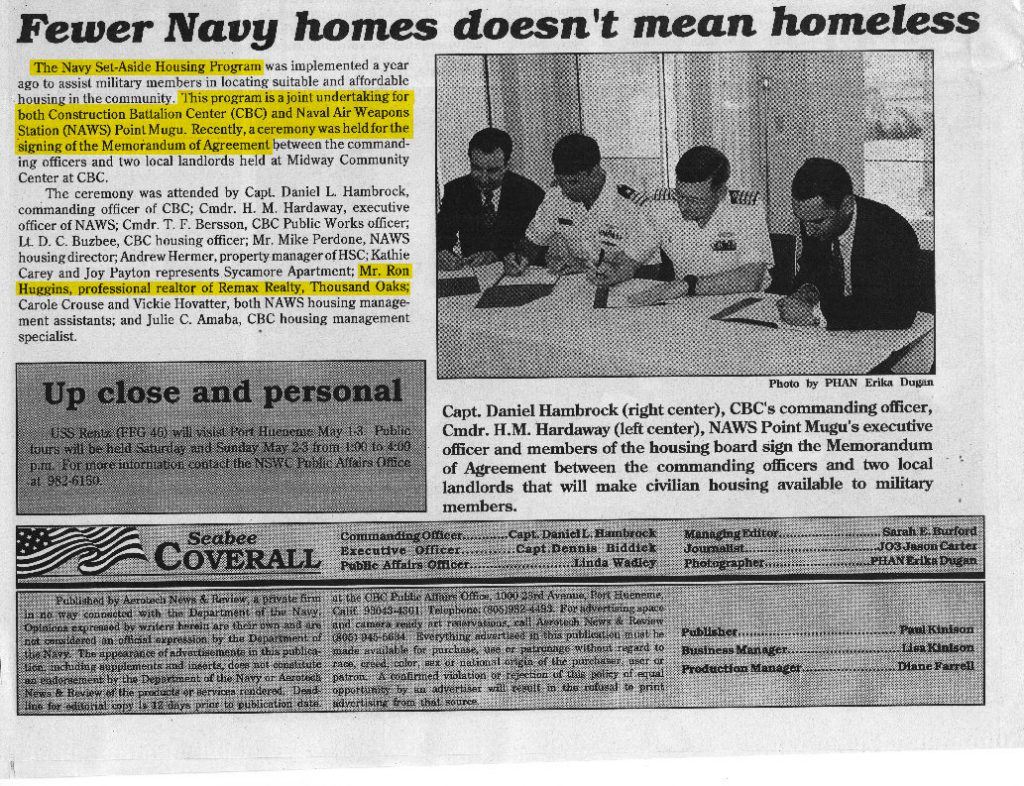 In honor of Veteran's Day, a throwback to when Huggins Homes was an official US Navy partner! 1