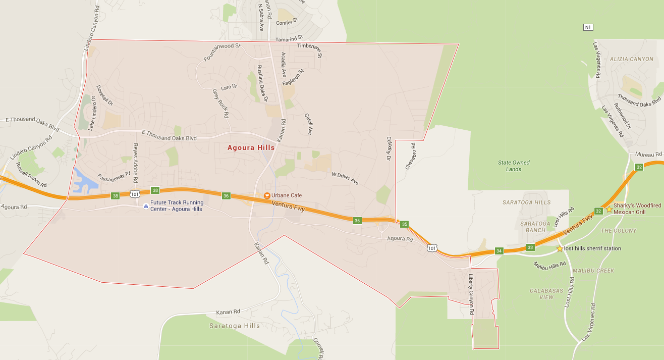 Map of the City of Agoura Hills