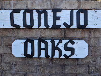 Conejo Oaks Sign for 1449 La Jolla Dr.